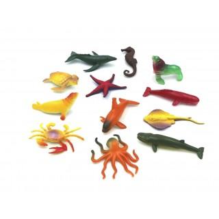 Bolsa con animales marinos